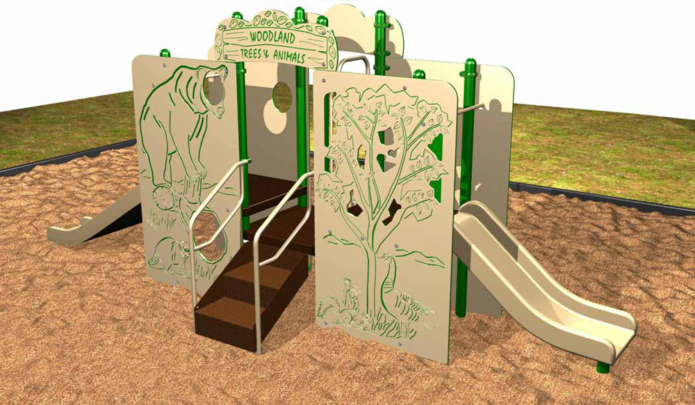 Woodland Trees and Animals Playsystem