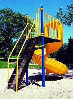 Freestanding Spiral Slide, 120