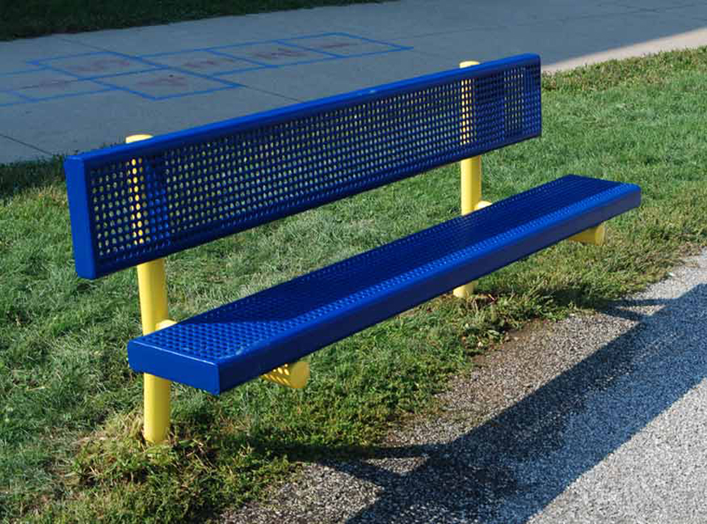 Plastic Coated Steel Bench - Select Size