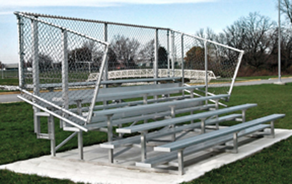 Aluminum Bleachers with Steel Frame