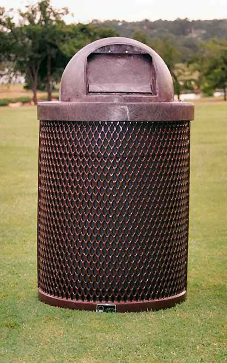 Trash Receptacle with Dome Top