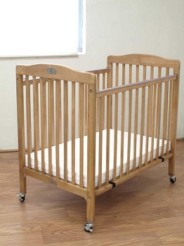 Little Wood Folding Crib - Natural, Cherry or White