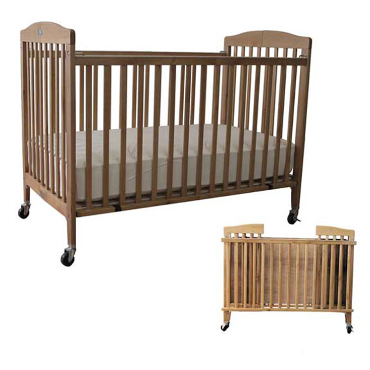 Full Size LA Baby Wood Folding Crib
