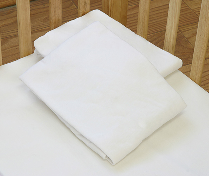 LA Baby Poly-Cotton Fitted Sheets for Compact Cribs - 24 Pack