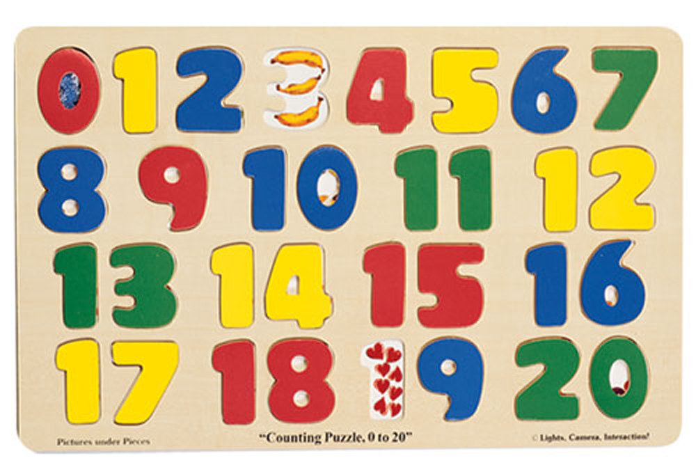 Jumbo-Sized Wood Puzzles, Numbers 0-20