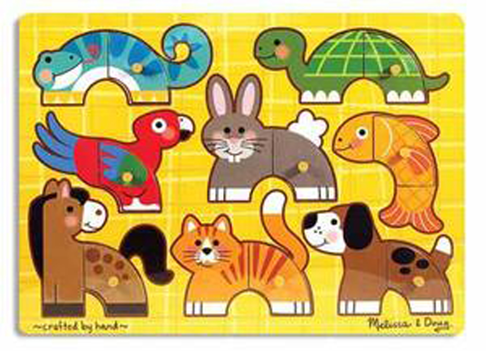 Pets - Mix 'n Match Peg Puzzle - 8 Pieces