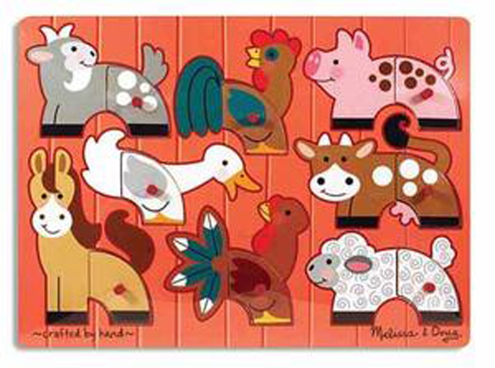 Farm Mix 'n Match - Peg Puzzle - 8 Pieces