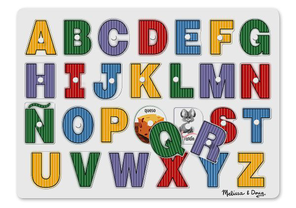 See-Inside Spanish Alphabet - Peg Puzzle