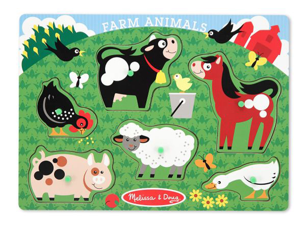 Farm Animals - Peg Puzzle