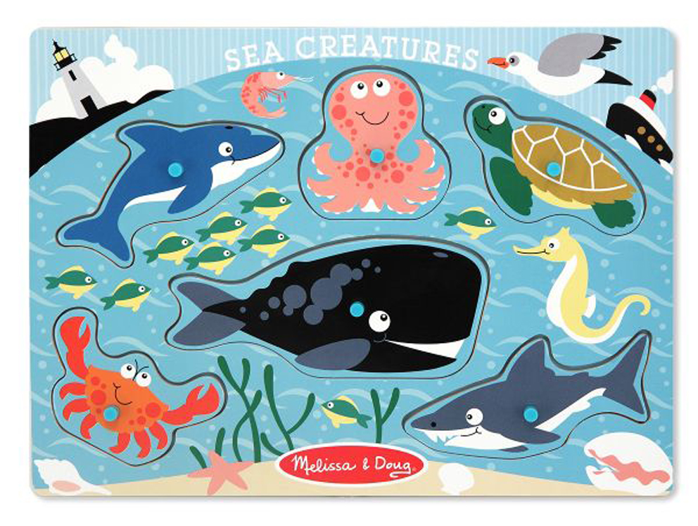 Sea Creatures - Peg Puzzle
