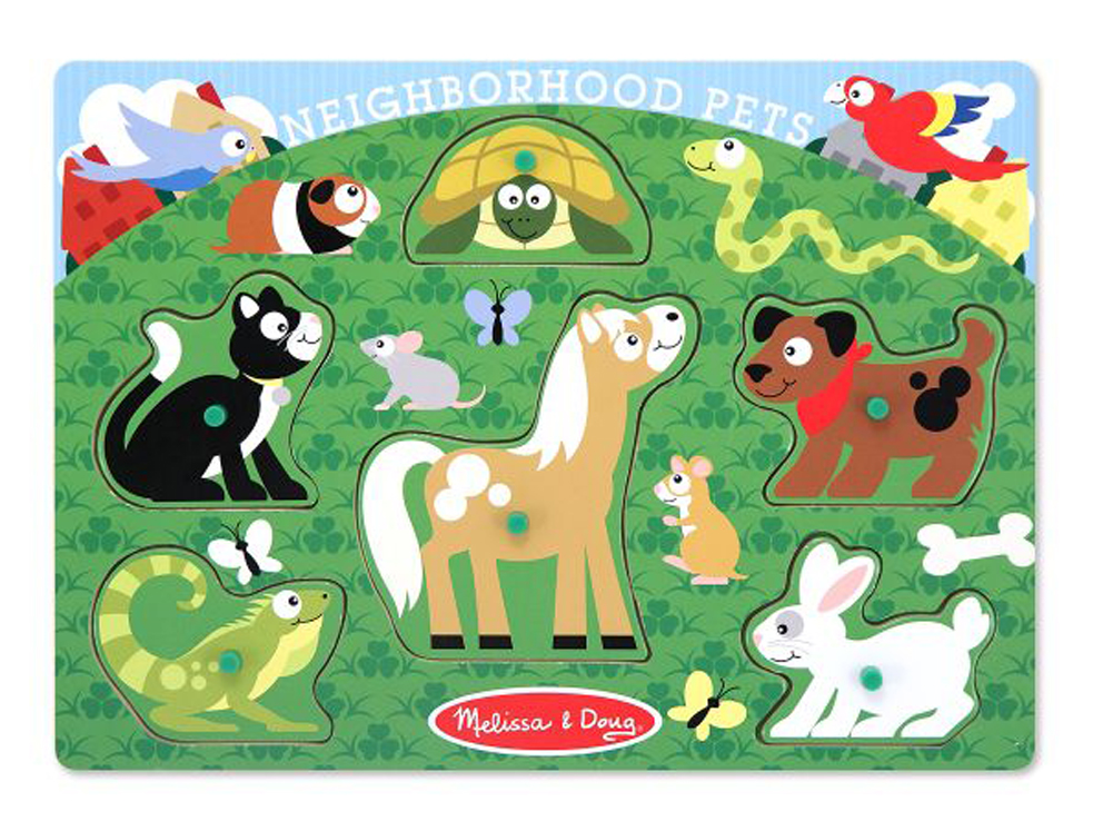 Neighborhood Pets - Peg Puzzle