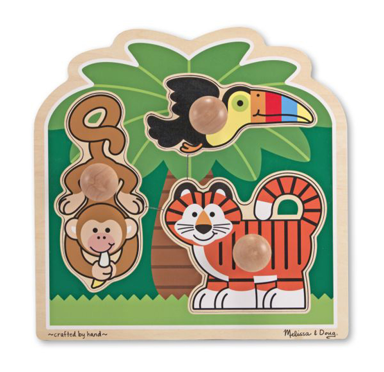 Rainforest Friends - Jumbo Knob Puzzle