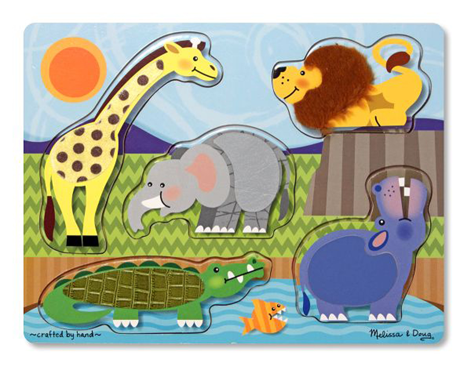 Zoo Animals - Touch and Feel Puzzle
