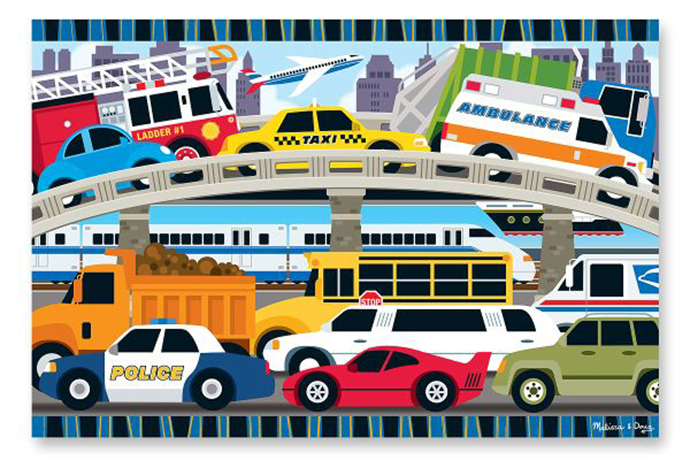 Traffic Jam - Floor Puzzle 2' x 3' - 24 Pieces