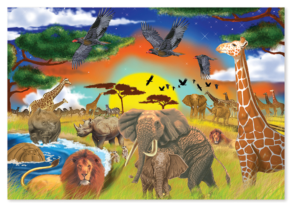 Savannah Adventure - 48 Piece Floor Puzzle