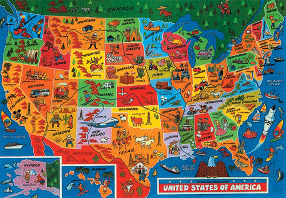 USA Map - Jigsaw Puzzle