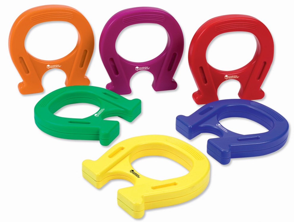 Horseshoe-Shaped Mighty Magnets - Set of 6