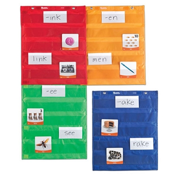 Magnetic Pocket Chart Squares - Set of 4