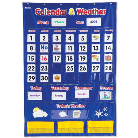 Calendar & Weather - Pocket Chart
