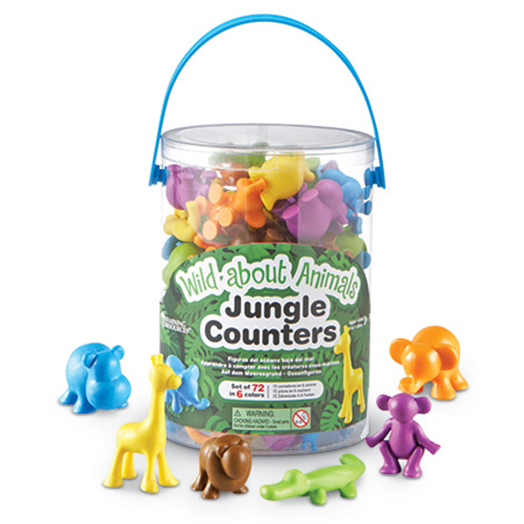 Wild About Animals Jungle Counters - Set of 72
