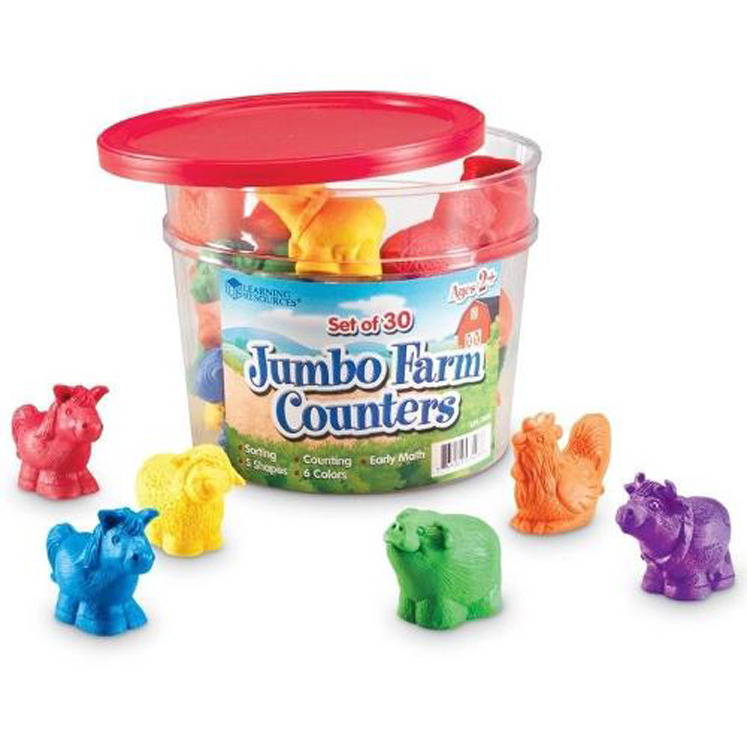 Jumbo Farm Counters - Set of 30