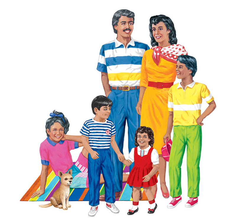 Hispanic Family Flannelboard Set - Pre-Cut