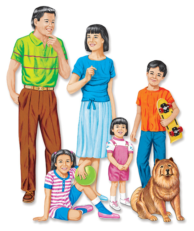 Asian Family Flannelboard Set - Pre-Cut