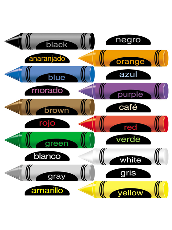 Crayons With English and Spanish - Felt Set
