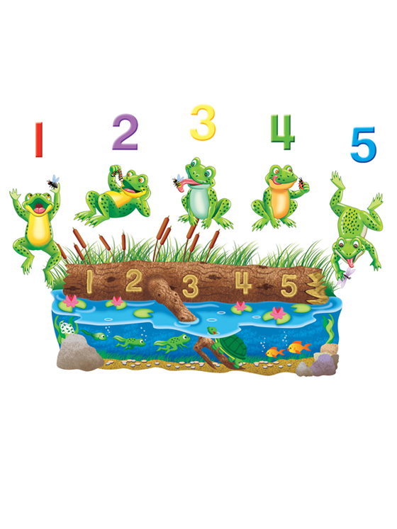 Five Speckled Frogs Bylingual Rhymes Felt Set