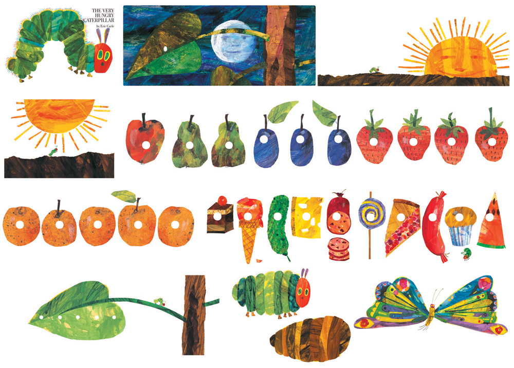 The Very Hungry Caterpillar - Flannel Board Precut Felt Figures