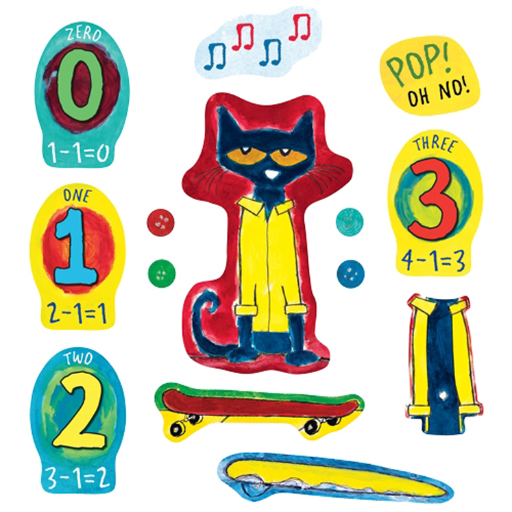 Pete the Cat and His Four Groovy Buttons - Felt Set