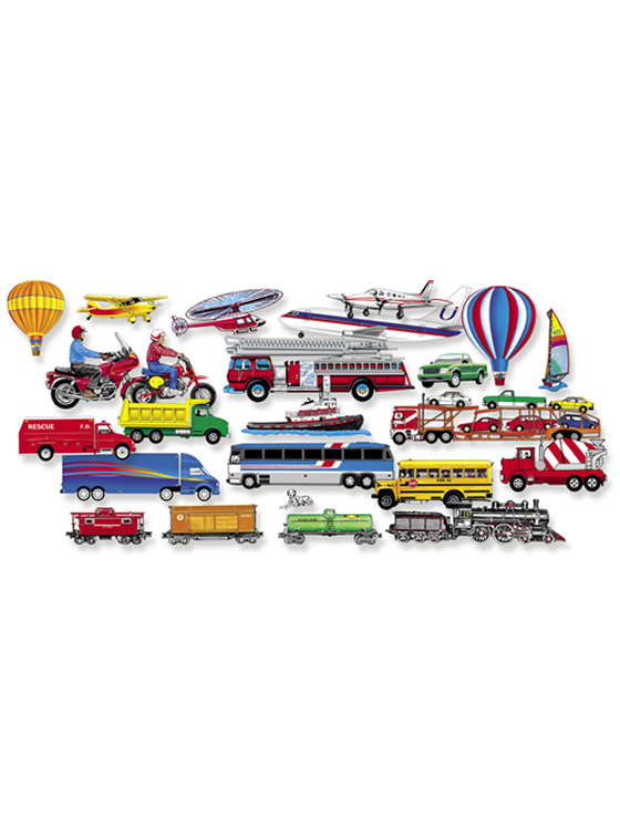 Trucks, Trains & Planes - Add-On Felt Set