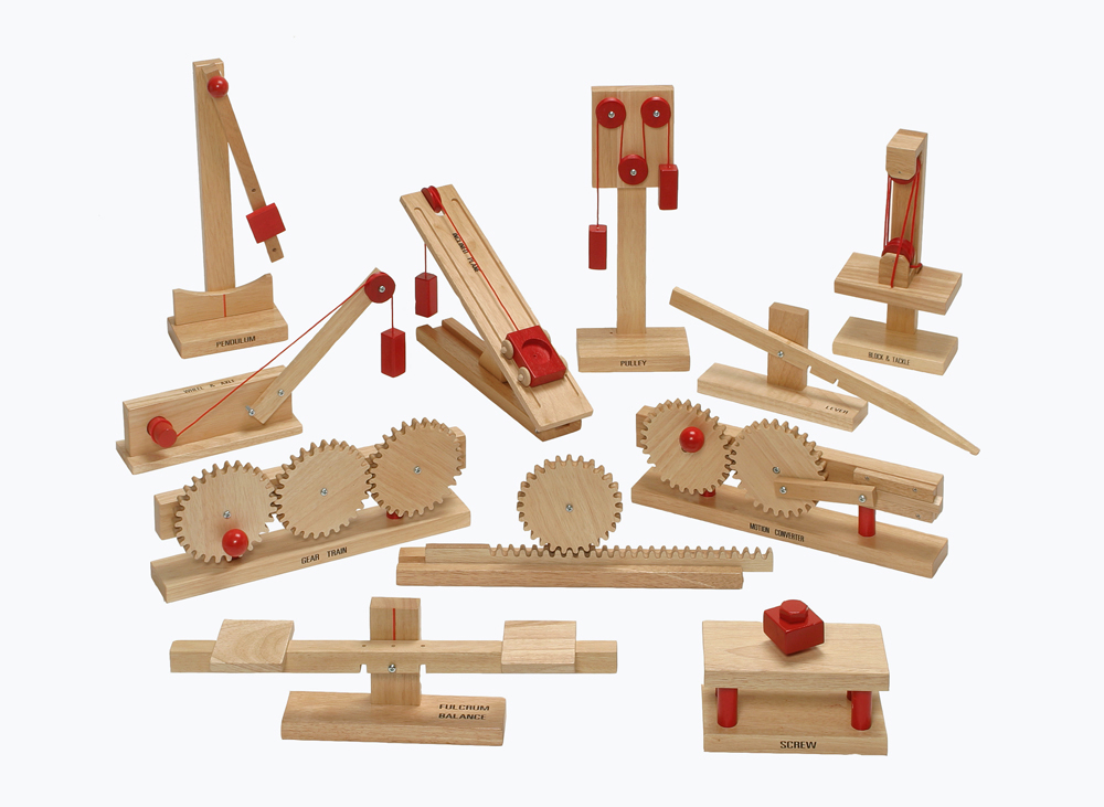 Simple Machine Wood Models - School Age
