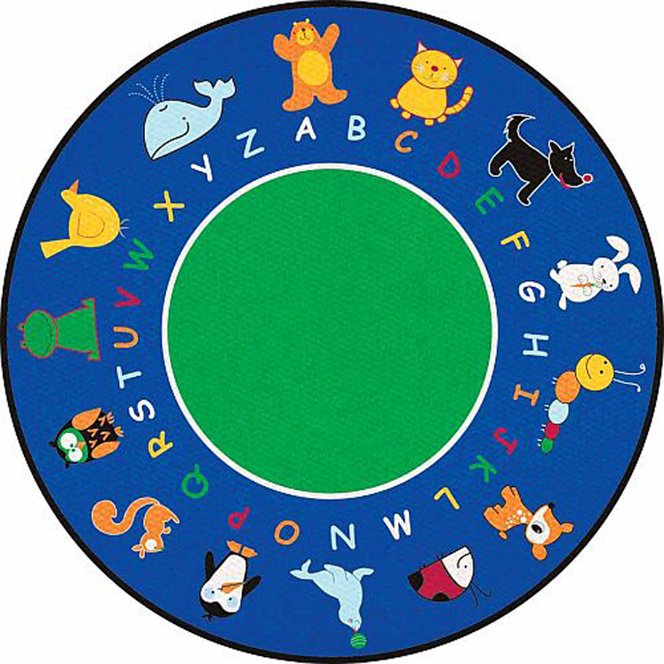 Fun with Animals Rug - Round - 2 Sizes