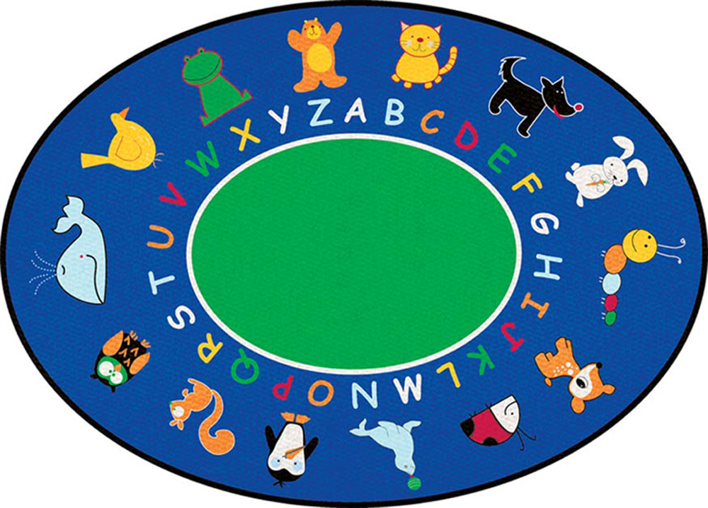 Fun with Animals Rug - Oval - 2 Sizes