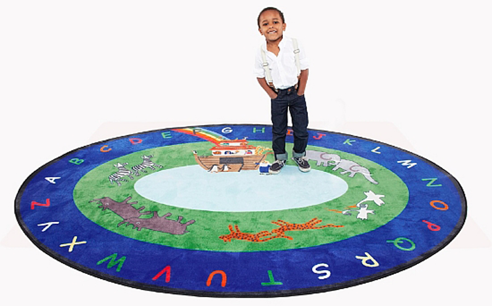 Noah's Ark Rug - Oval - 2 Sizes