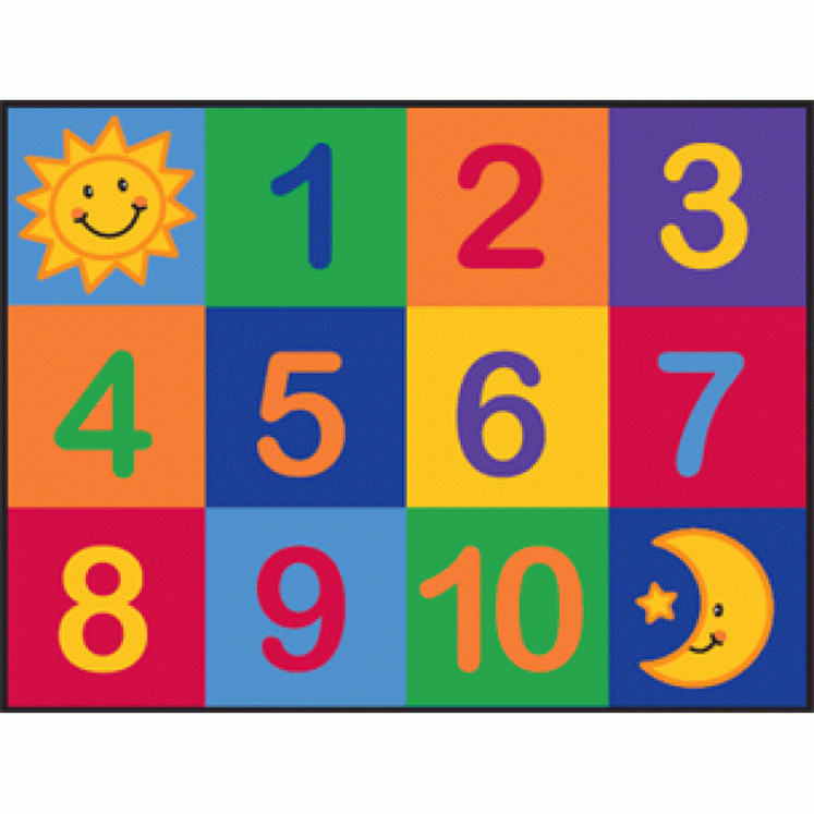 Number Grid Rug - Multiple Sizes