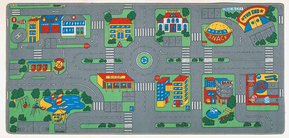 City, Play Carpet, 36''w x 79''l