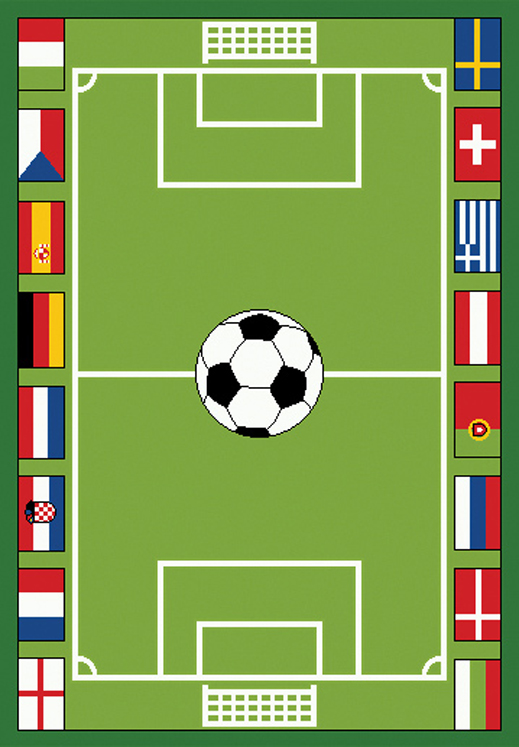 Soccer Play Carpet, 36''w x 52''l