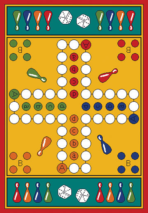 Parcheesi Play Carpet, 36''w x 52''l