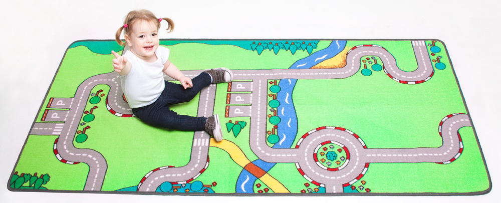 Building Blocks Play Carpet, 36''w x 79''l