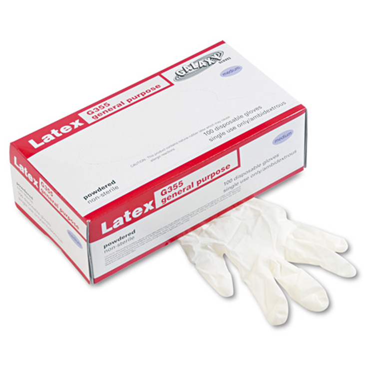 General-Purpose Latex Gloves, Medium