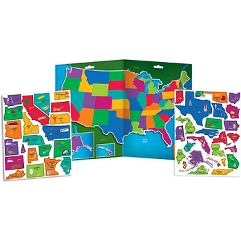 USA Map - Magnetic Playboard Set