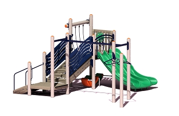 Canyon Play Structure - Wood or Metal/Plastic
