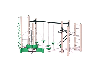 Rainier Play Structure - Metal or Wood Available