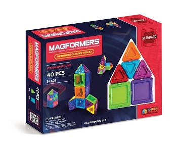 Magformers Rainbow Clear Solid Set