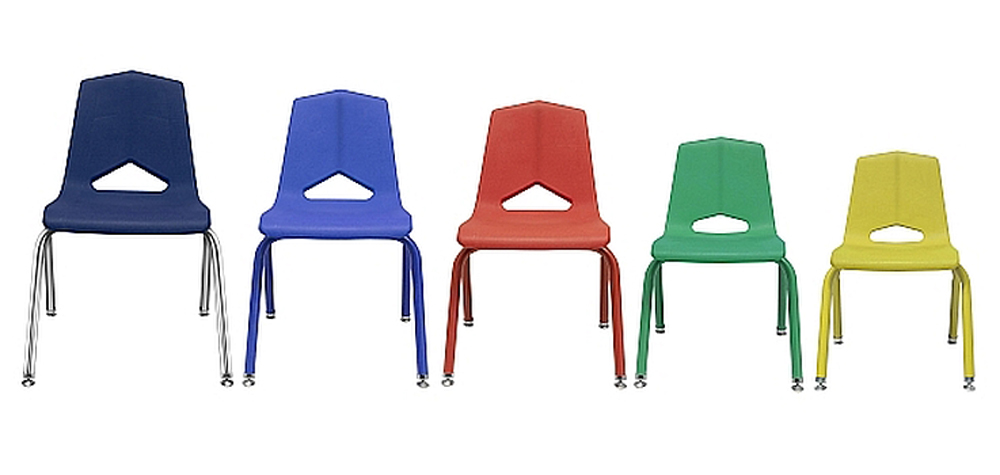 12'' V Back Stack Chair - Set of 6