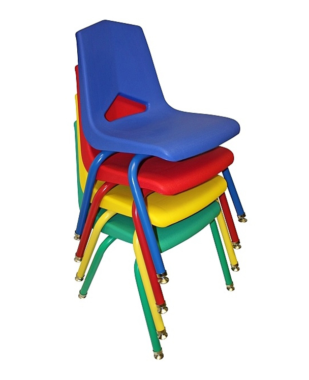 14'' V Back Stack Chair - Set of 6