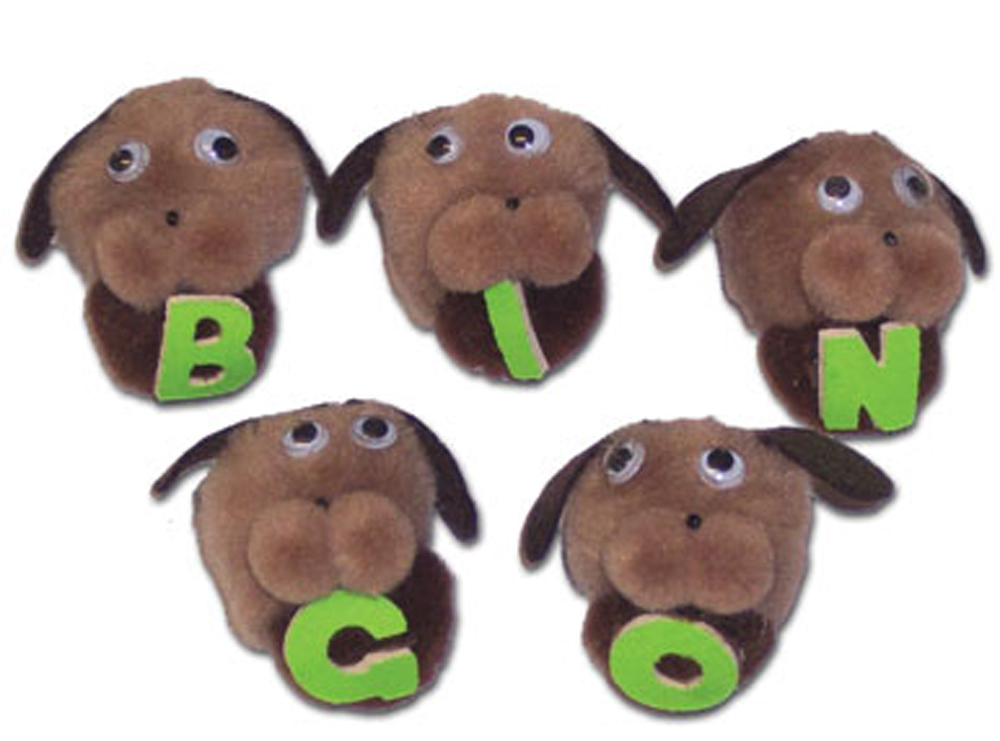 5-Character Monkey Mitt Set, Bingo Dogs