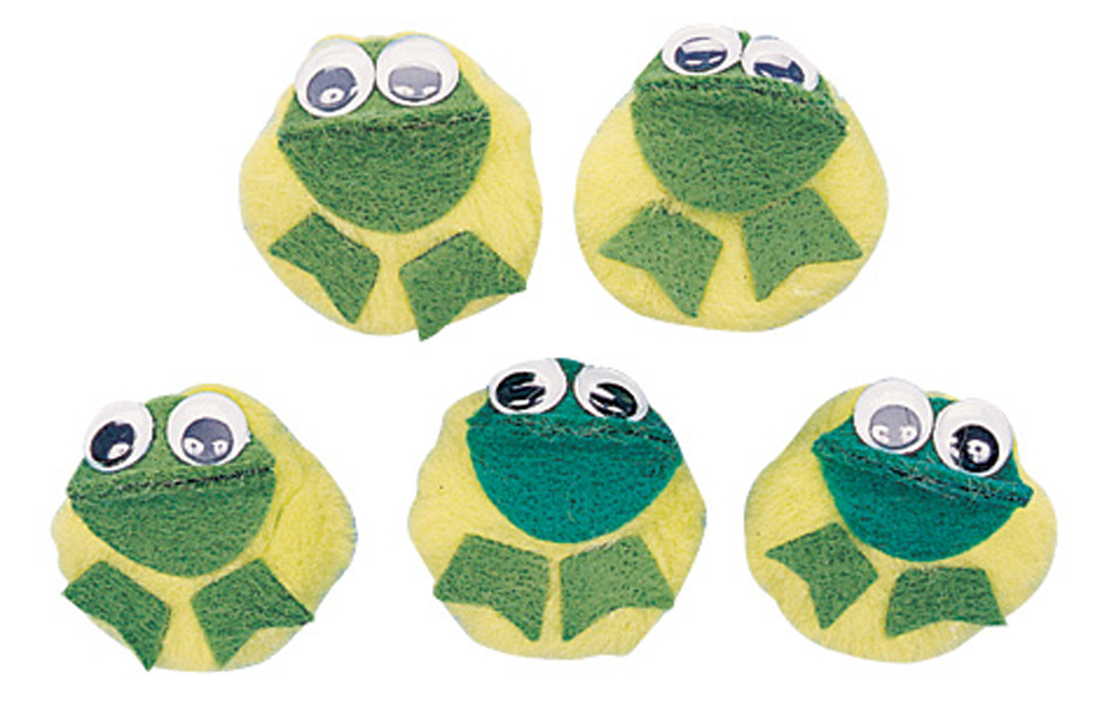 5-Character Monkey Mitt Set, 5 Speckled Frogs